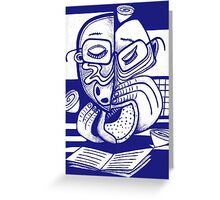 Blue, Blue that empty blue Greeting Card