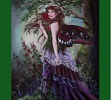 Mediaval forest lady fairy tote bag by gabo2828