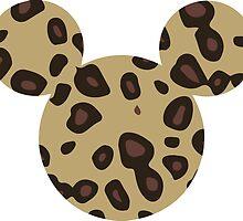 Mickey/Minnie head logo- leopard print by nemofish