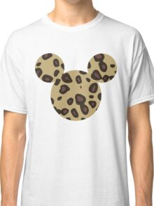 Mouse Leopard Patterned Silhouette Classic T-Shirt