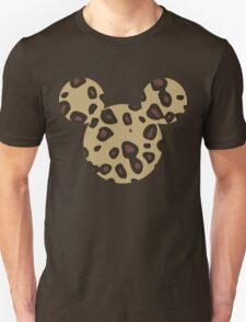 Mouse Leopard Patterned Silhouette Unisex T-Shirt