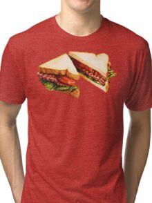 BLT Sandwich Pattern Tri-blend T-Shirt