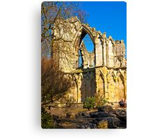 Ruins of St Mary's Abbey  -  York #2 Canvas Print