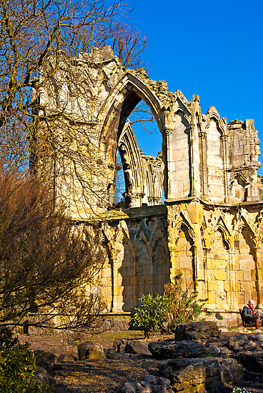Ruins of St Mary's Abbey  -  York #2 by Trevor Kersley