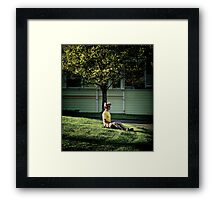 How to let a tree grow out of your head Framed Print