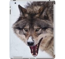 Snarling Wolf iPad Case/Skin