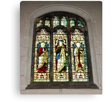 Window #1 - St Olave's Church - York. Canvas Print