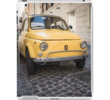 Vintage Yellow Fiat 500 in Rome iPad Case/Skin