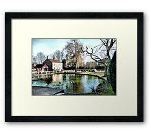 The Village Pond Framed Print