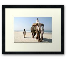 Sonu on the beach Framed Print