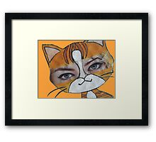 Emma the cat Framed Print