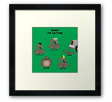 Snakes in the Asp Family Framed Print