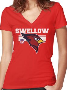 Swellow Women's Fitted V-Neck T-Shirt