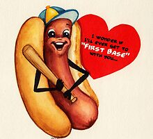 Hot Dog Valentine by Kelly  Gilleran