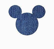 Mouse Denim Patterned Silhouette Unisex T-Shirt