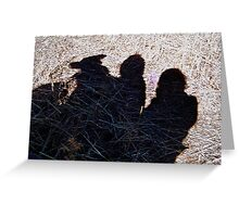 SHADOWS IN STUBBLE Greeting Card