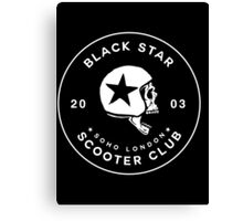 BLACK STAR SCOOTER CLUB  Canvas Print