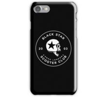 BLACK STAR SCOOTER CLUB  iPhone Case/Skin