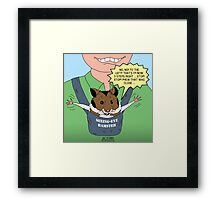 Seeing-Eye Hamster Framed Print