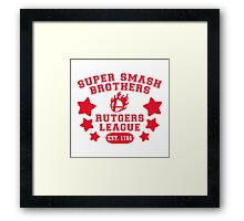 Super Smash Bros. Rutgers League Framed Print