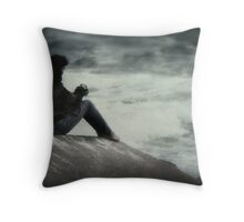 Stormy Waters Throw Pillow
