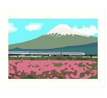 Minimalist Japanese Mountain (Mt. Fuji) Art Print