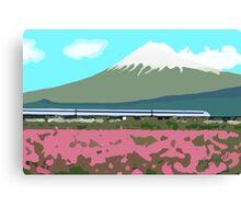 Minimalist Japanese Mountain (Mt. Fuji) Canvas Print