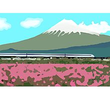 Minimalist Japanese Mountain (Mt. Fuji) Photographic Print