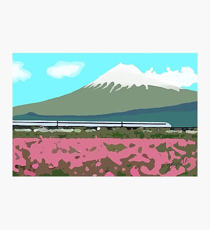 Minimalist Japanese Mountain (Mt. Fuji) Photographic Print