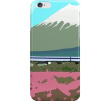 Minimalist Japanese Mountain (Mt. Fuji) iPhone Case/Skin