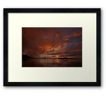 Sunrise in Bora Bora Framed Print