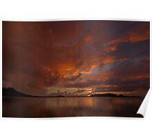 Sunrise in Bora Bora Poster