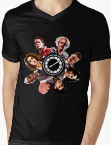 BTTF: Clock Tower MIX Mens V-Neck T-Shirt