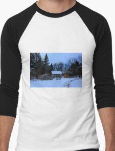 English Gardens (Winter View) Men's Baseball ¾ T-Shirt