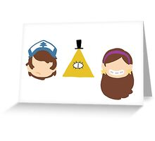 Evil Triangle Greeting Card