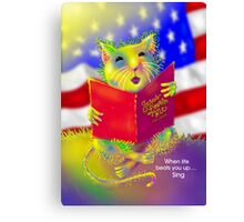 'Let Us Remember' George the Singing Mouse Canvas Print