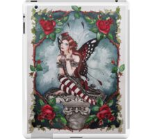 Drusilla gothic, steampunk style red rose fairy faerie, fantasy, elf iPad Case/Skin