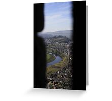 Stirling Castle From Wallace Monument Greeting Card