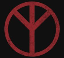 Premonition Reverse Peace Sign, Distressed Kids Clothes