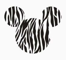 Mouse Zebra Patterned Silhouette Kids Clothes