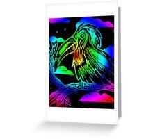 Neon Toucan Print Greeting Card