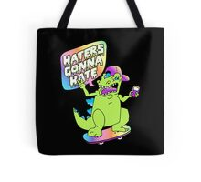 """Haters Gonna Hate"" Reptar (black) Tote Bag"