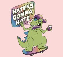 """Haters Gonna Hate"" Reptar (white) Kids Clothes"
