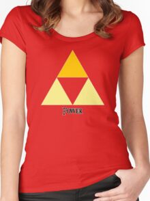 Triforce of Power Women's Fitted Scoop T-Shirt