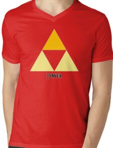 Triforce of Power Mens V-Neck T-Shirt