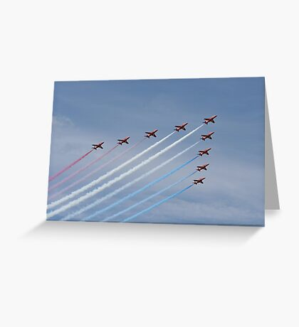 Red Arrows Greeting Card