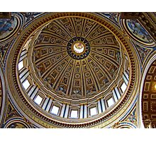 Interior Cupola, St. Peter's Basilica, The Vatican Photographic Print