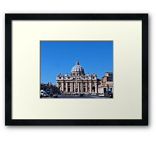 St. Peter's Square, The Vatican Framed Print