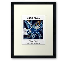 Dialga - Time Flies Framed Print