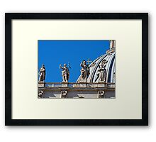 Statues, St Peter's Dome, The Vatican Framed Print